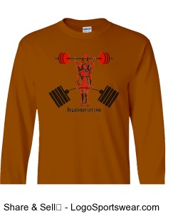 Men's burnt orange basic long-sleeve tee Design Zoom