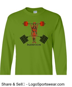 Men's green basic long-sleeve tee Design Zoom